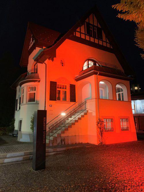 Lustenau beleuchtet ab Montag die Villa im Rathausquartier orange. Gde