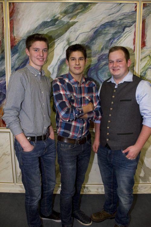 Manuel Nenning, Josef Steurer und Simon Burtscher waren sehr erfolgreich.