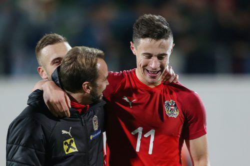 Marco Friedl erzielte beim 4:0-Sieg über Kosovo zwei Treffer für Österreich. gepa