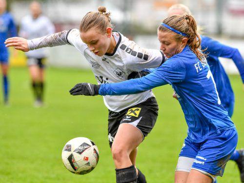 Maria Staffa (l.) und Co. erlebten im ÖFB-Cup eine schmerzliche Niederlage.Lerch