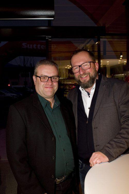 Markus Hollenstein (l.) und Stefan Fessler vom Käsespezialisten Moosbrugger.