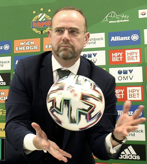 Martin Bruckner ist der neue starke Mann bei Fußball-Rekordmeister Rapid.apa
