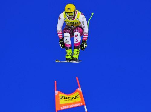 """Max Franz ist heute auf der ersten Saisonabfahrt in Lake Louise der """"Titelverteidger"""".ap"""