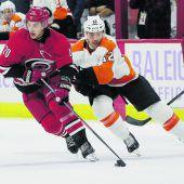 Raffl mit Vorlage für diePhiladelphia Flyers