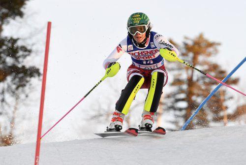 Mit einem achten Platz stieg Katharina Liensberger vor einem Jahr in Levi in die Weltcupsaison ein.gepa