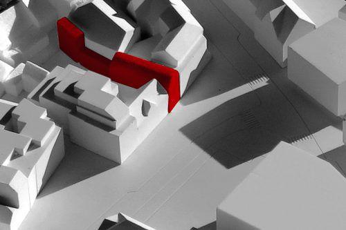 Mit konkreten Entwürfen wird noch gegeizt, was Herzog & de Meuron aber schon auf ihrer Homepage zeigen, ist ein erster Entwurf.