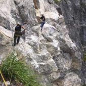 Sprengung beim Klettersteig Fallbach