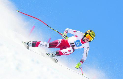 Nina Ortlieb hat aus der vergangenen Weltcupsaison einen 13. Platz im Super-G als bestes Resultat stehen. gepa
