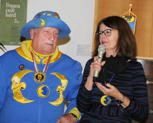 Ober-Mufängar Armin Kleiner und Vizebürgermeisterin Eva Mair.