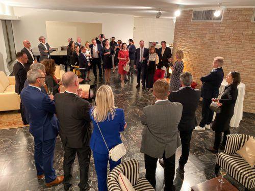 Österreichs Botschafterin in Israel, Hannah Liko, begrüßte die Vorarlberger.