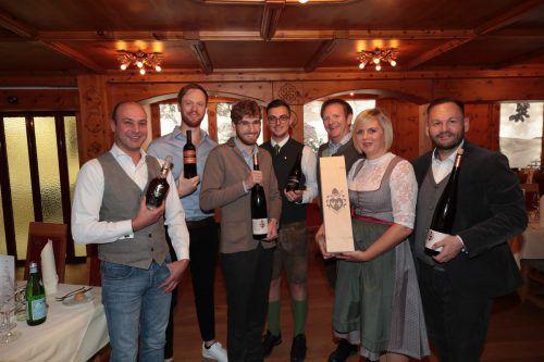 Oliver Bertsch, Martin Nittnaus, Mathias Hirtzberger, Markus Berbig, Christian und Steffi Greußing. a. Meusburger