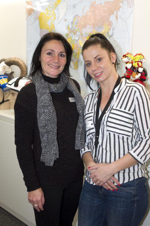 Petra Bechter (l.) und Bianca Windisch von der Firma Haberkorn.