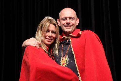 Prinzessin Anita und Prinz Mario regieren das närrische Volk in Hörbranz.