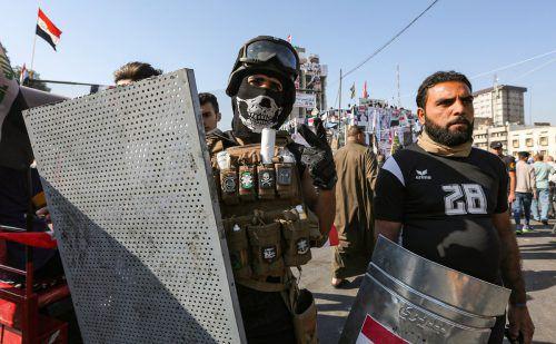 Proteste im Irak und auch im Libanon gegen soziale Notstände. AFP