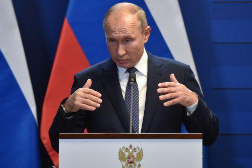 Putin hatte das Gesetz im Mai unterzeichnet. Nun ist es in Kraft. AP