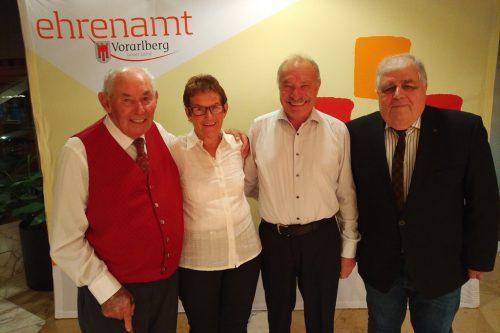 PVÖ-Funktionäre wurden bei der Landesehrenamts-Veranstaltung mit Ehrenurkunden ausgezeichnet. Pensionistenverband Gaschurn