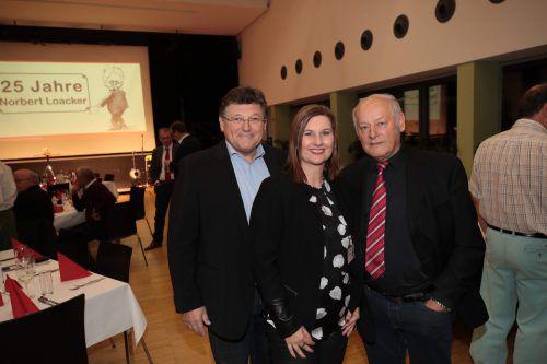 Rainer Wimmer (l.), Sabine Rudigier und Egon Blum.