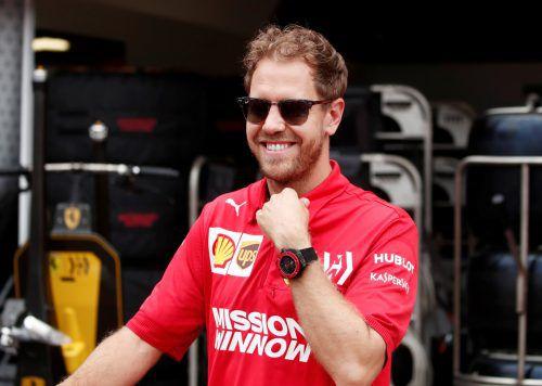 Sebastian Vettel kann nach der Geburt seines Sohnes in Abu Dhabi befreit Gas geben.Reuters