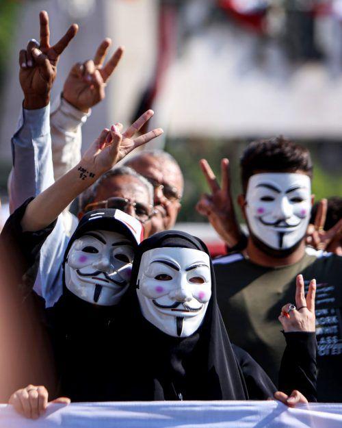 Seit Anfang Oktober gibt es im Irak (auf dem Bild in Bagdad) Demonstrationen. AFP