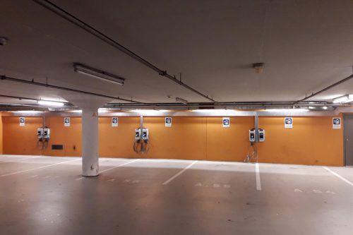 Sieben neue Ladestationen wurden in der Dornbirner Stadtgarage installiert. Betrieben werden sie von den VKW. Stadt