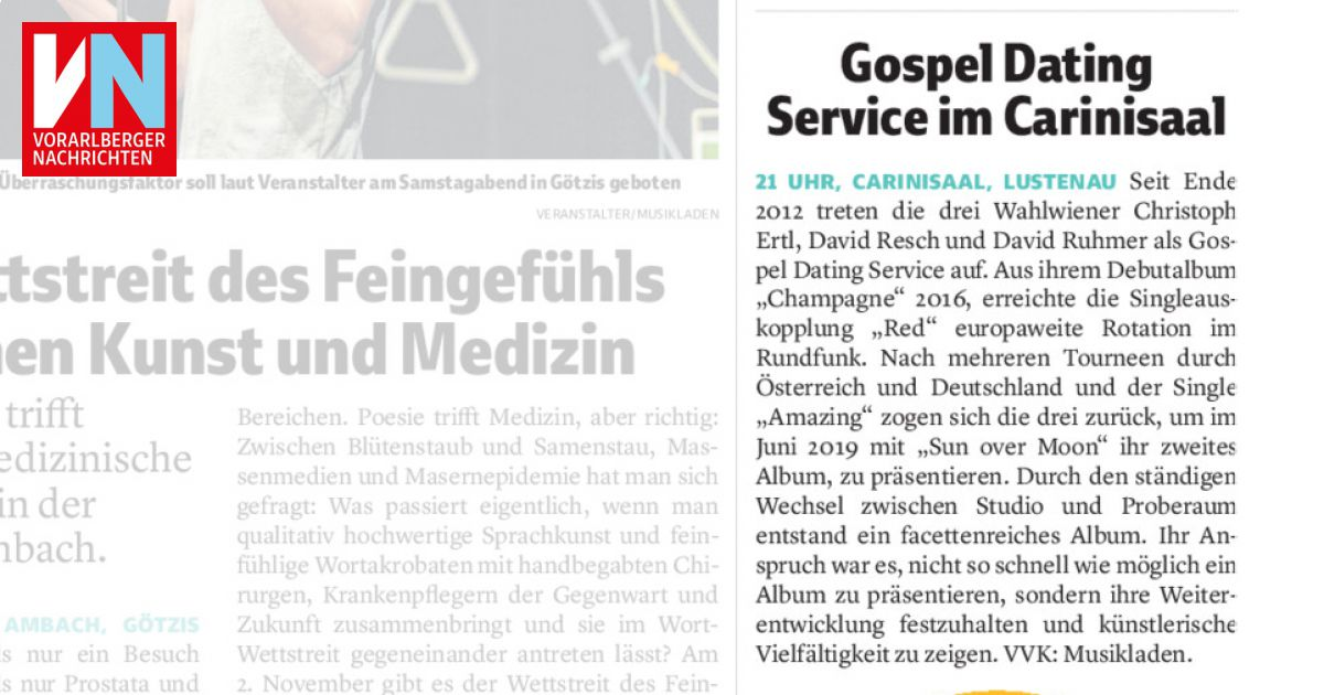 Dating in Vorarlberg ab heute - huggology.com