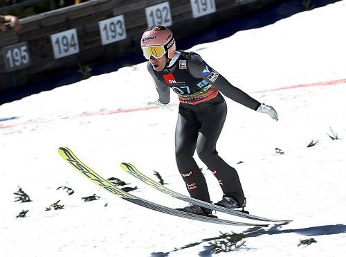 Stefan Kraft hält in Wisla mit 139 Metern den Schanzenrekord.AP