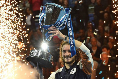 Stefanos Tsitsipas ist der erste griechische Titelträger und mit 21 Jahren der jüngste Sieger seit 18 Jahren bei den ATP Finals.AFP