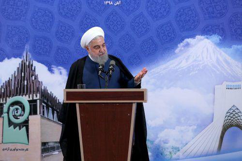 Teheran bleibe gesprächsbereit, aber konsequent, sagte Rohani. AFP