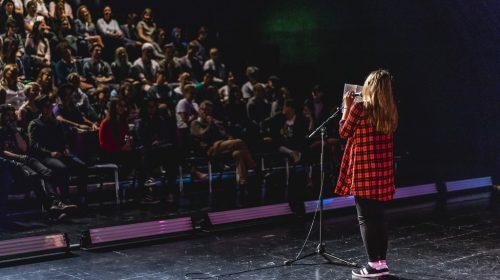 U20 Poetry Slam im Theater Kosmos in Bregenz.h. Hirschmann