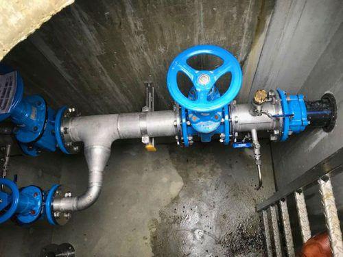 Über ein besonderes Leitungsstück sind die Gemeinden Sulzberg und Doren seit Kurzem verbunden. Und es fließt schon Wasser im Testbetrieb. M. Rogginer