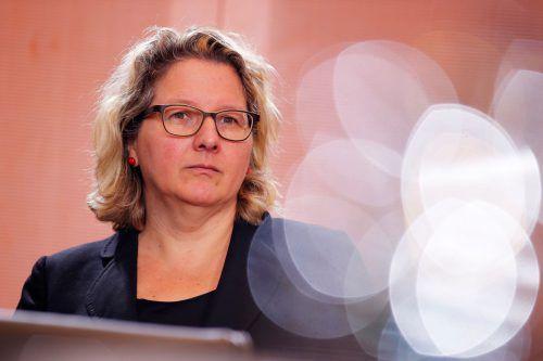 """Umweltministerin Svenja Schulze: """"Klimaschutz endlich gesetzlich verankert.""""AFP"""