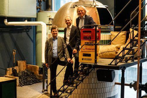 V. l.: Heinz Huber (Mohrenbrauerei), Kurt Michelini (GF Brauerei Frastanz) und Hubert Berkmann (GF Brauerei Egg) werden intensive Gespräche mit dem Ziel, Kooperationsmöglichkeiten zu finden und Synergien zu nutzen, führen.