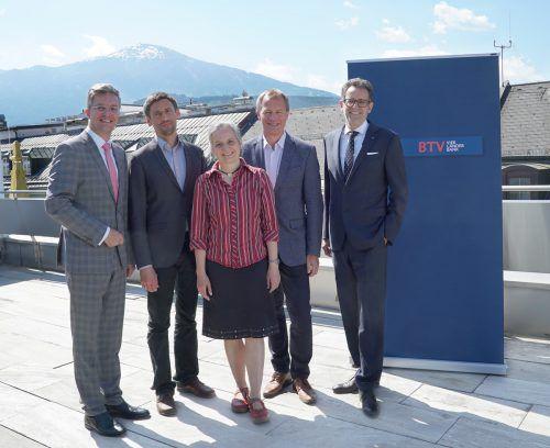 V. l.: Michael Perger, Jochen Lawrenz, Anke Bockreis, Matthias Bank und Gerhard Burtscher. BTV
