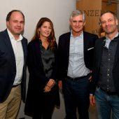 """<p class=""""caption"""">VN-Chefredakteur Gerold Riedmann, GF Tanit Koch (n-tv), Botschafter Michael Linhart und Medienmanager Markus Spillmann. VN/Lerch</p>"""