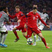 Die Bayern mühen sich ins Achtelfinale