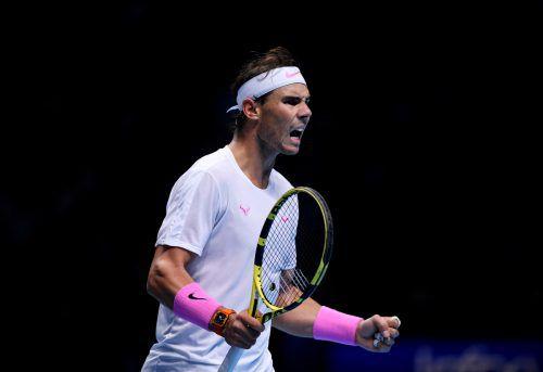 Wehrte einen Matchball ab und gewann am Ende die Partie: Rafael Nadal.Reuters