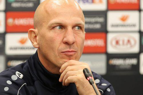 Zeigt sich wohl wechselwillig:WAC-Trainer Gerhard Struber. gepa