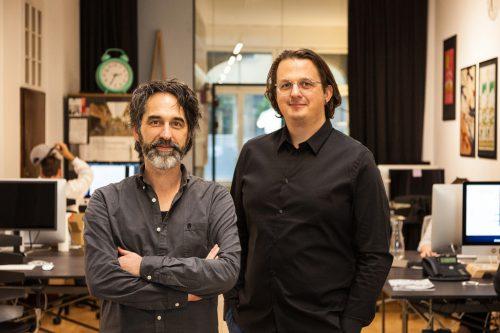 Zeughaus-Gründer Klaus Österle und Oliver Ruhm. ZD