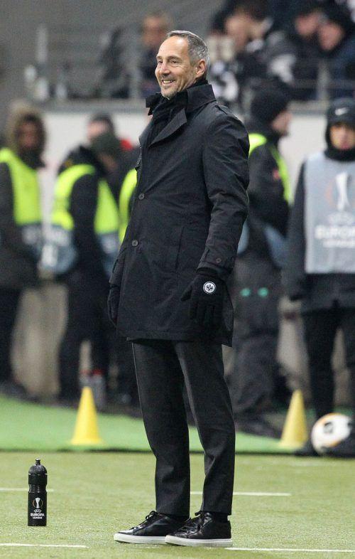 Adi Hütter trifft mit Frankfurt in der Europa League auf seinen Ex-Verein Salzburg.AFP