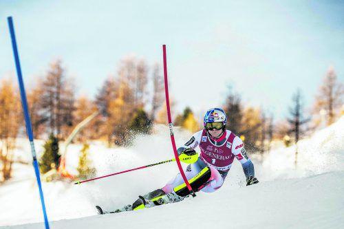 Alexis Pinturault rehabilitierte sich auf seinem Trainingshang mit einem Slalomsieg, nachdem er sich beim erstenTorlauf der Saison in Levi nicht für den zweiten Durchgang qualifiziert hatte.gepa