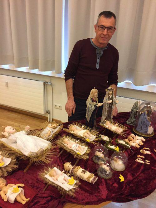 Bei der Krippen-Ausstellung in Frastanz zeigte Blenke einige seiner Werke. kum