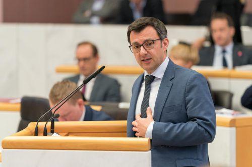 Bei der Landtagswahl im Oktober wurde Martin Staudinger in den Landtag gewählt. Nun tritt er auch in Hard an. VN/Stiplovsek