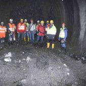 Neuer Tunnel: bereits 600 Meter tief im Berg