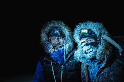 Borge Ousland (l.) und Mike Horn waren länger als geplant unterwegs. AFP