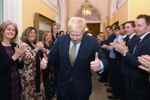 Boris Johnson hat es geschafft. Seine Tories holten bei der Parlamentswahl in Großbritannien die absolute Mehrheit. AFP