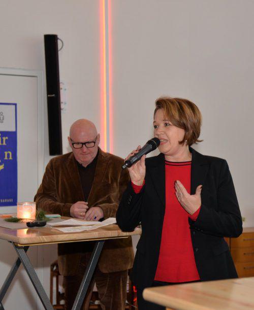 Bürgermeisterin Andrea Kaufmann und Kulturamtsleiter Roland Jörg sprachen über das städtische Kulturleitbild.