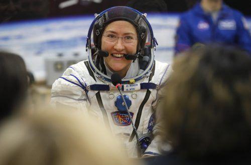 Christina Koch hat bisher 288 Tage am Stück im Weltall verbracht. AP