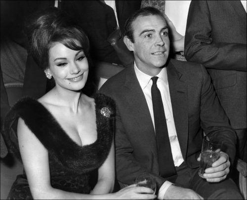 Claudine Auger und Jean Connery im Februar 1965. AFP