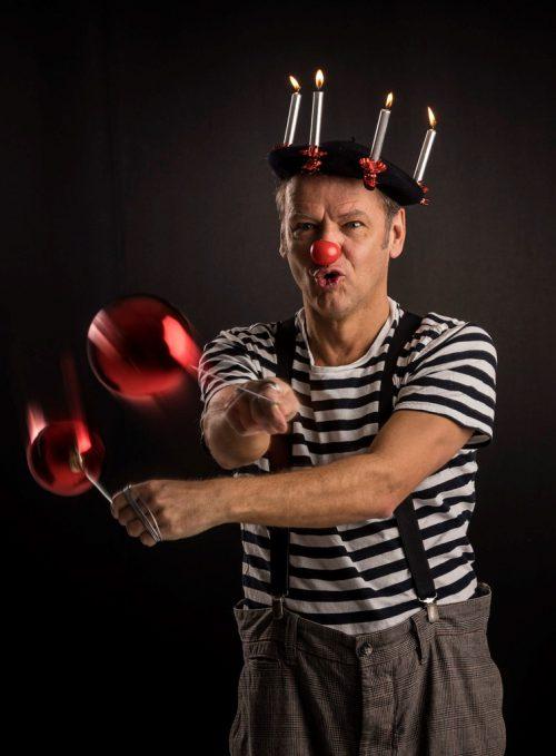 Clown Dido wird für eine bunte Weihnachtszeit sorgen. Kulturbühne