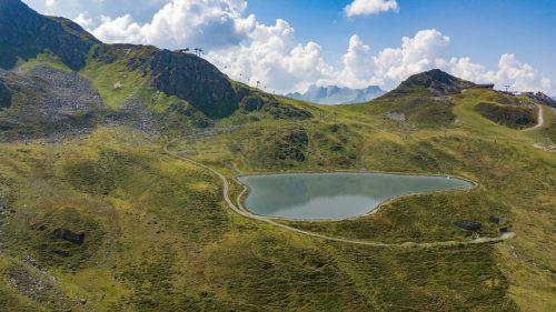 Der neue See sollte der Beschneiungsanlage neues Wasser liefern. Das Projekt ist mittlerweile gestoppt. IKP/Betreiber